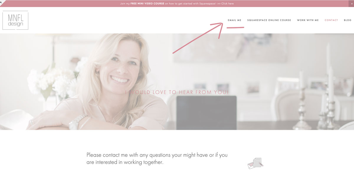 How to add a link to an email address in Squarespace | MNFL Design