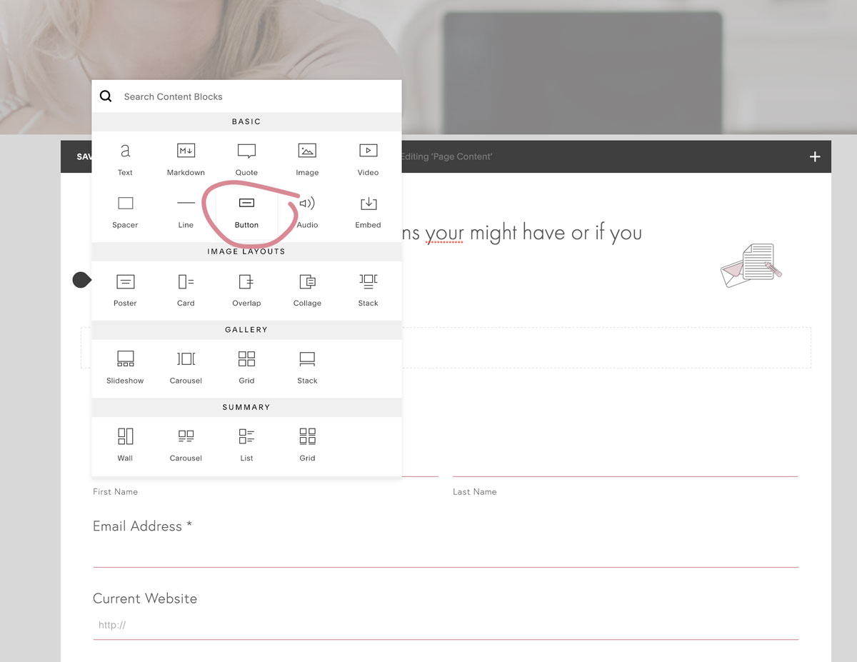 5.How to add a clickable phone number link in Squarespace | MNFL Design