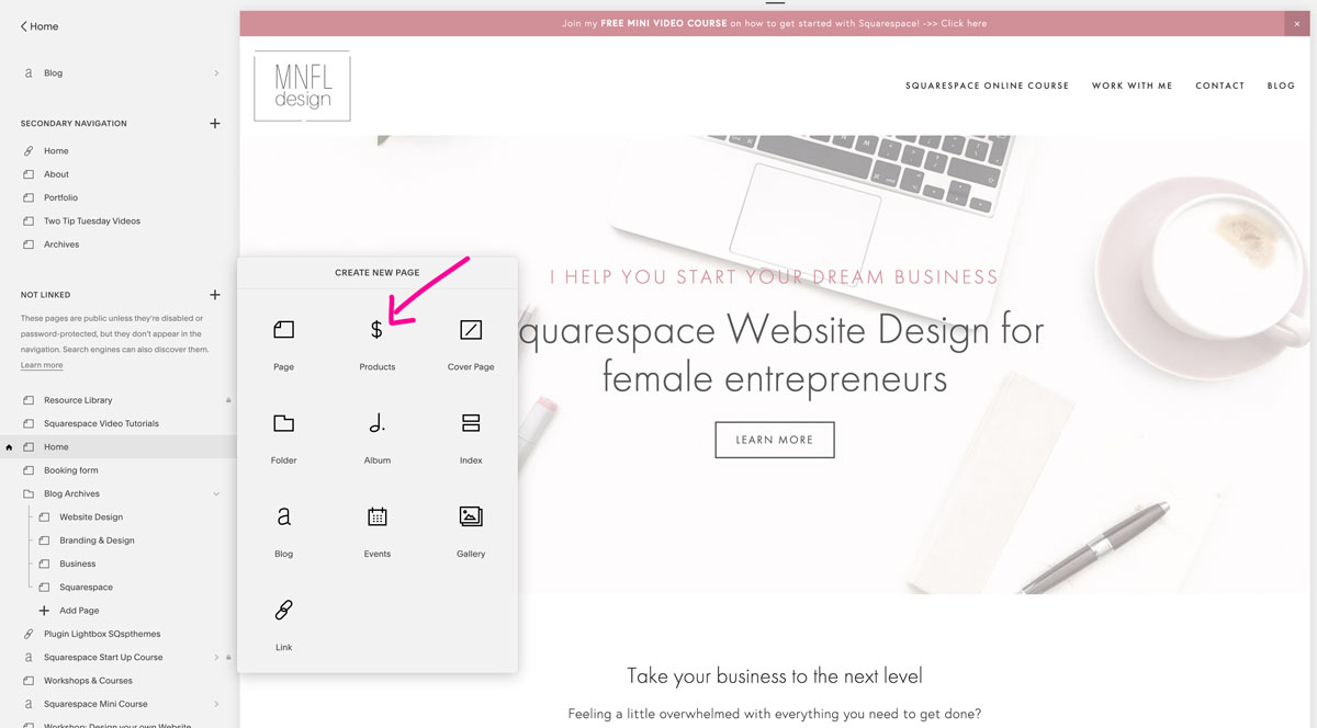 How to have an add to cart button on your Squarespace website | Emilia Ohrtmann