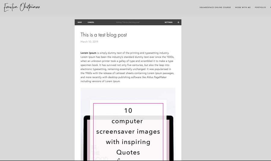 A complete guide how to blog on Squarespace | Emilia Ohrtmann