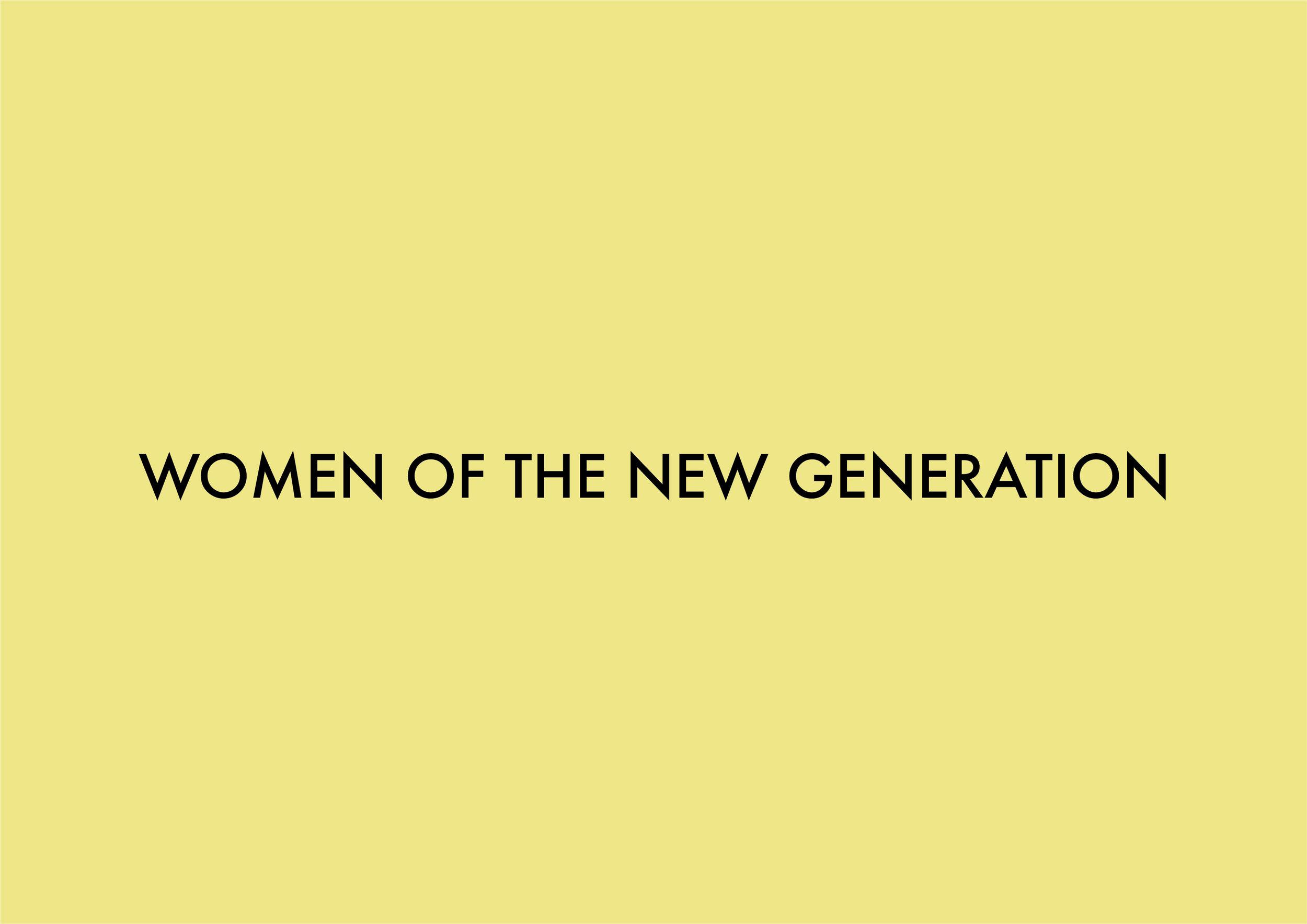 Women of the New Generation - logo | Emilia Ohrtmann