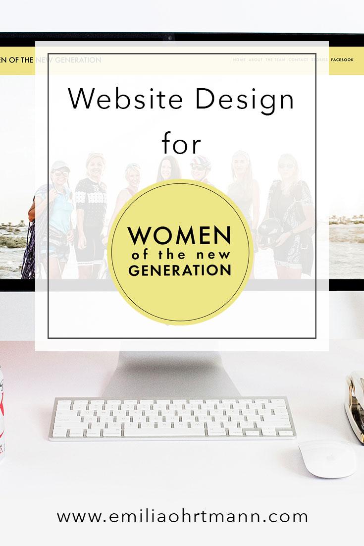 Website Design Women of the New Generation | Emilia Ohrtmann