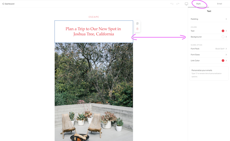 How to use Squarespace Campaigns | Emilia Ohrtmann