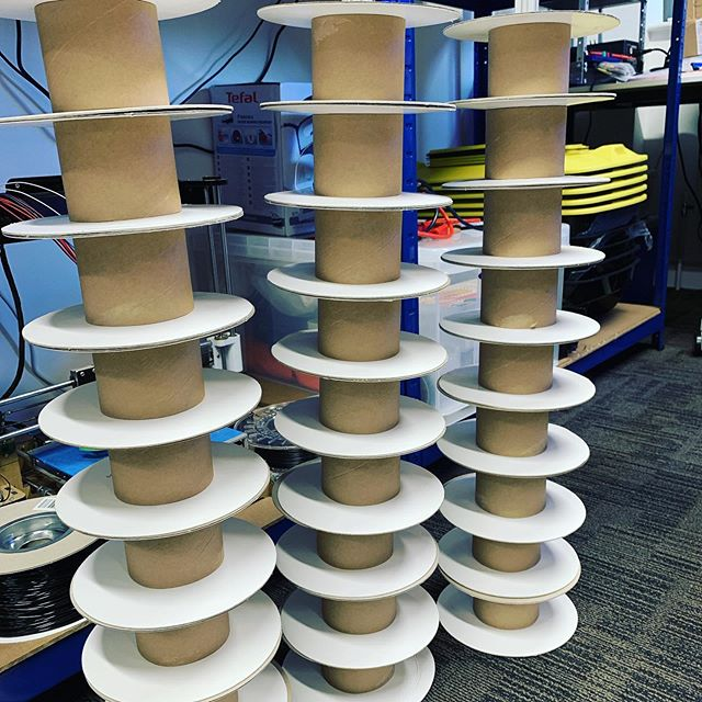 That's a LOT of 3D Printing! 😳😂❤️ All empty spools of filament and turned into exciting things!  And plenty more to come 👍🛠 #3dprinting #3dprinter #instagood #fun #like #prototype #maker #engineering #productdesign #beautiful #3d #fdm #manufacturing #makersgonnamake #3dprint #future #innovation #design #designer #concept #bespoke #digital #industry #nfirelabs #electronics #custom #production #printing #3dmodel
