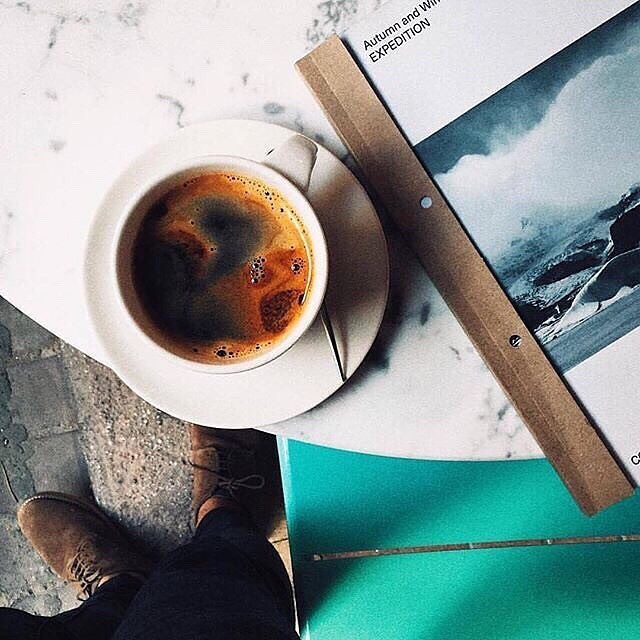 INSPO // Loving the texture of a long black and the colours of the ocean ☕️🌊 📸: @cansaglam
