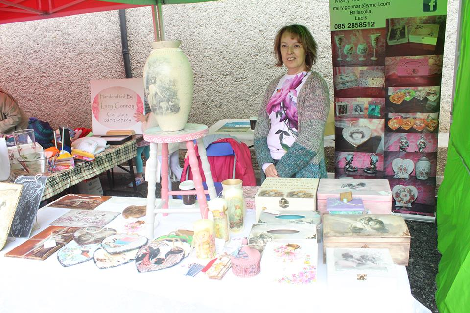 - Amazing upcycled treasures from Rebbecca & Classic Photos with personalised poems from Margaret were also up for grabs. Mary G. had the most amazing array of Shabby Chic gifts of all descriptions. Aileen brings exquisite upcycled furniture with decoupage and hand painting.