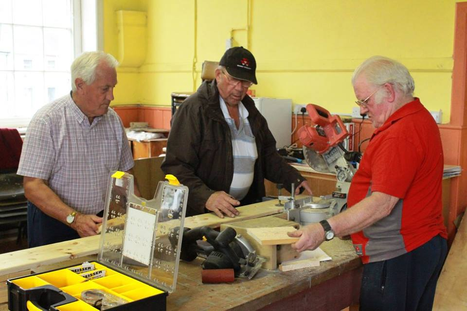 Men's Shed Mountrath, Old Girl's School, Patrick Street, Mountrath, Co Laois Tuesdays and Thursdays 8pm  To contact The Men's Shed Mountrath, find us on Facebook at MountrathMensShed or on call Seamus Burke on 087 2534210