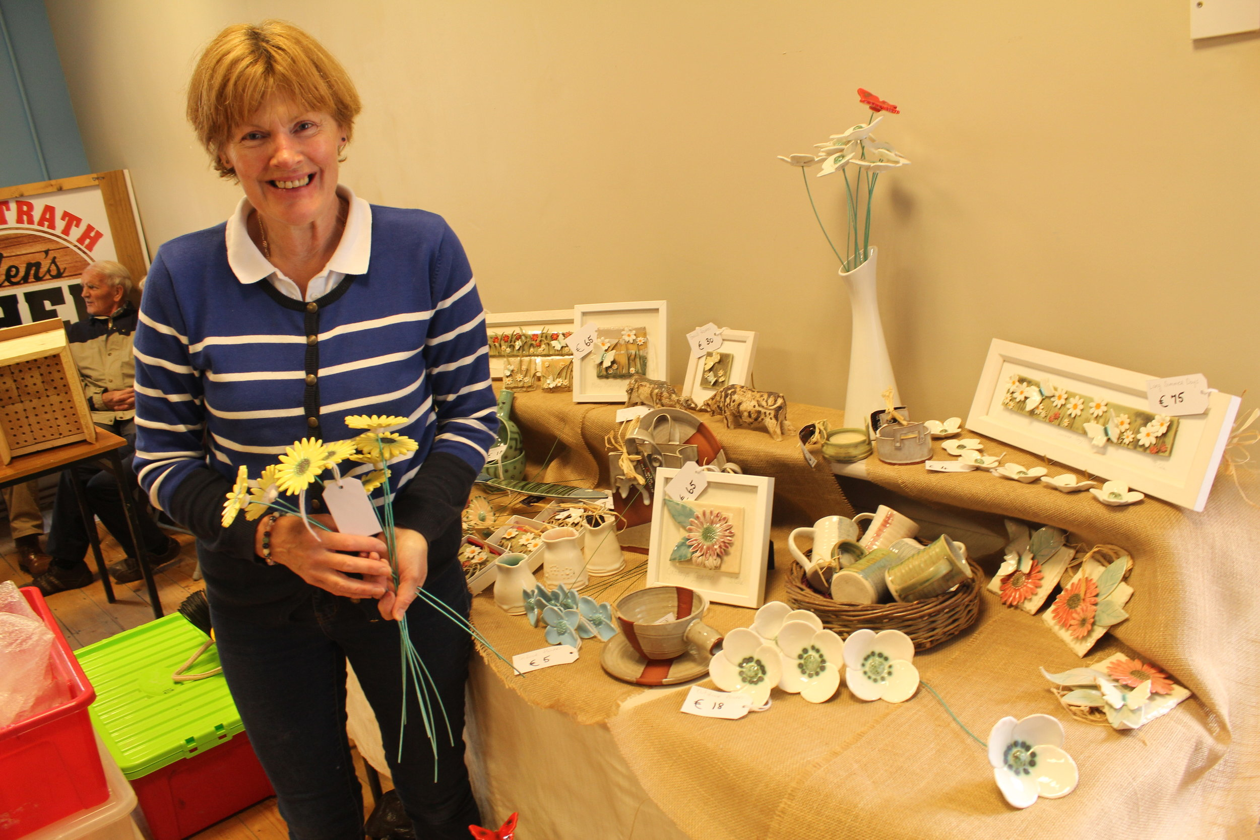 - Elaine Hyland will bring homemade jewellery, picture frames, gifts of all descriptions