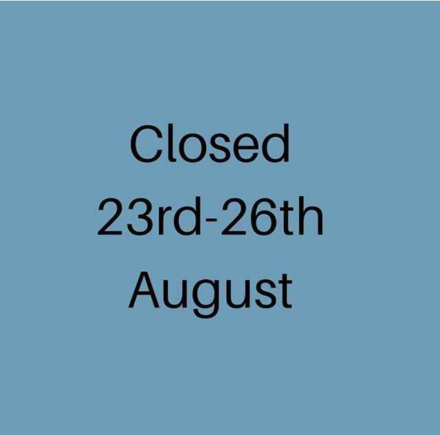 That's it until NEXT TUESDAY at midday folks... we're closed for the bank holiday weekend to get a well deserved rest.  Thanks for all of your loving and support throughout the summertime. 😍🌈🌱