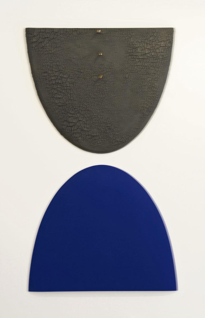 akril, les, zemlja, železo, dvakrat 80 x 80 cm, 1998