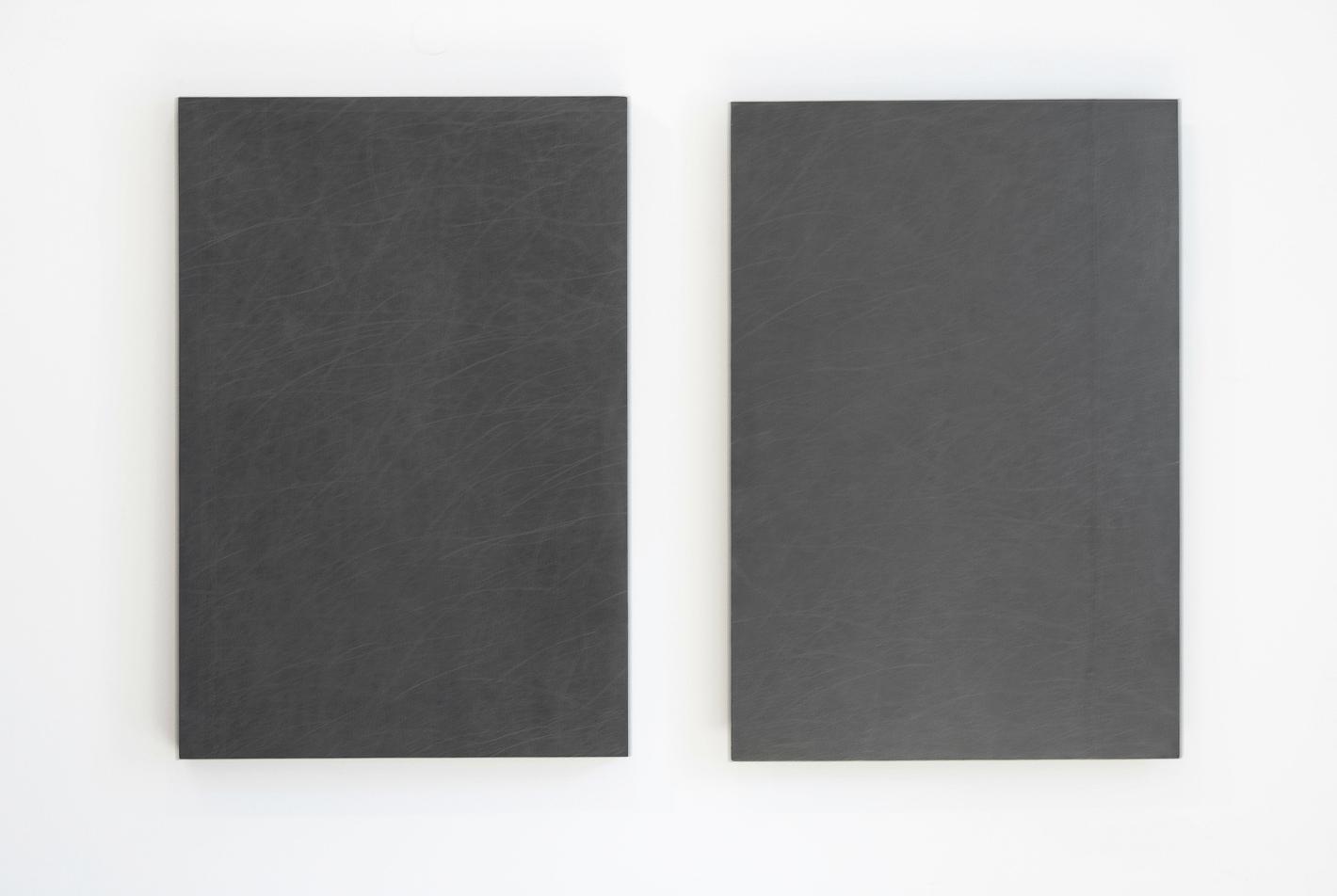 grafit, les, dvakrat 100 x 68 cm, 1998