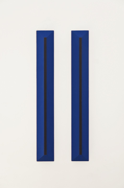 akril, grafit, les, 80 x 11 cm, 1998