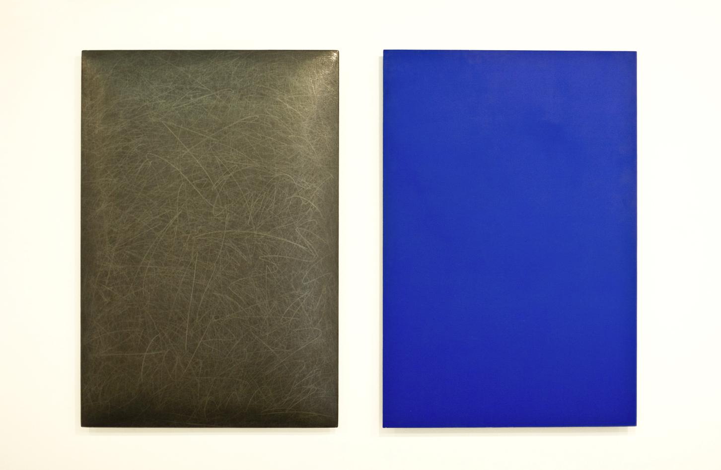 grafit, akril, les, 100 x 70 cm, 1999