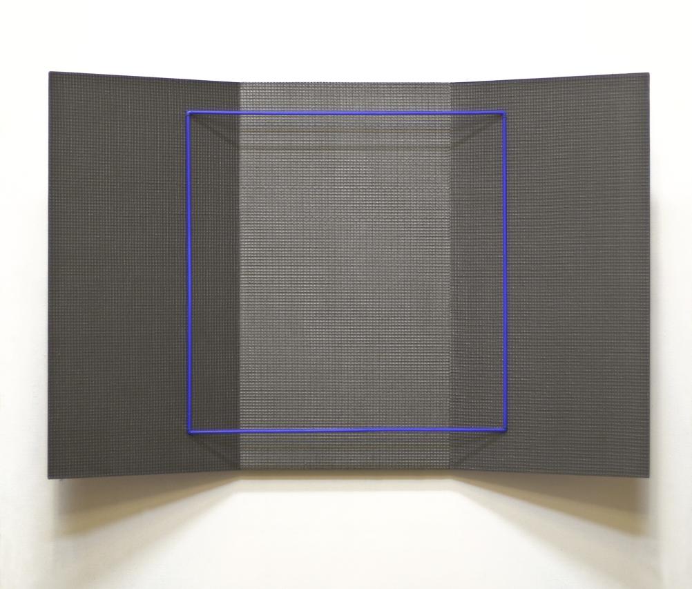 akril, železo, les,  50 x 84 cm, 2000