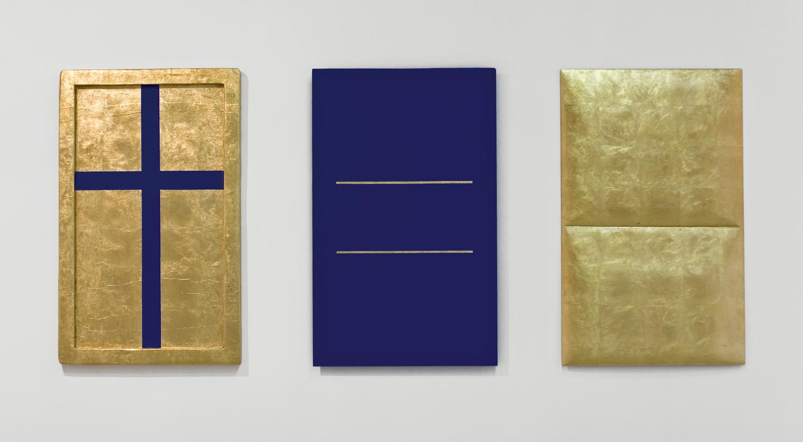 medenina, les, trikrat 110 x 68 cm, 2001