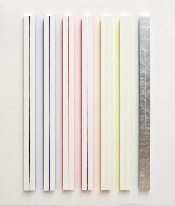 akril, aluminj, les, 225 x 185 cm, 2006