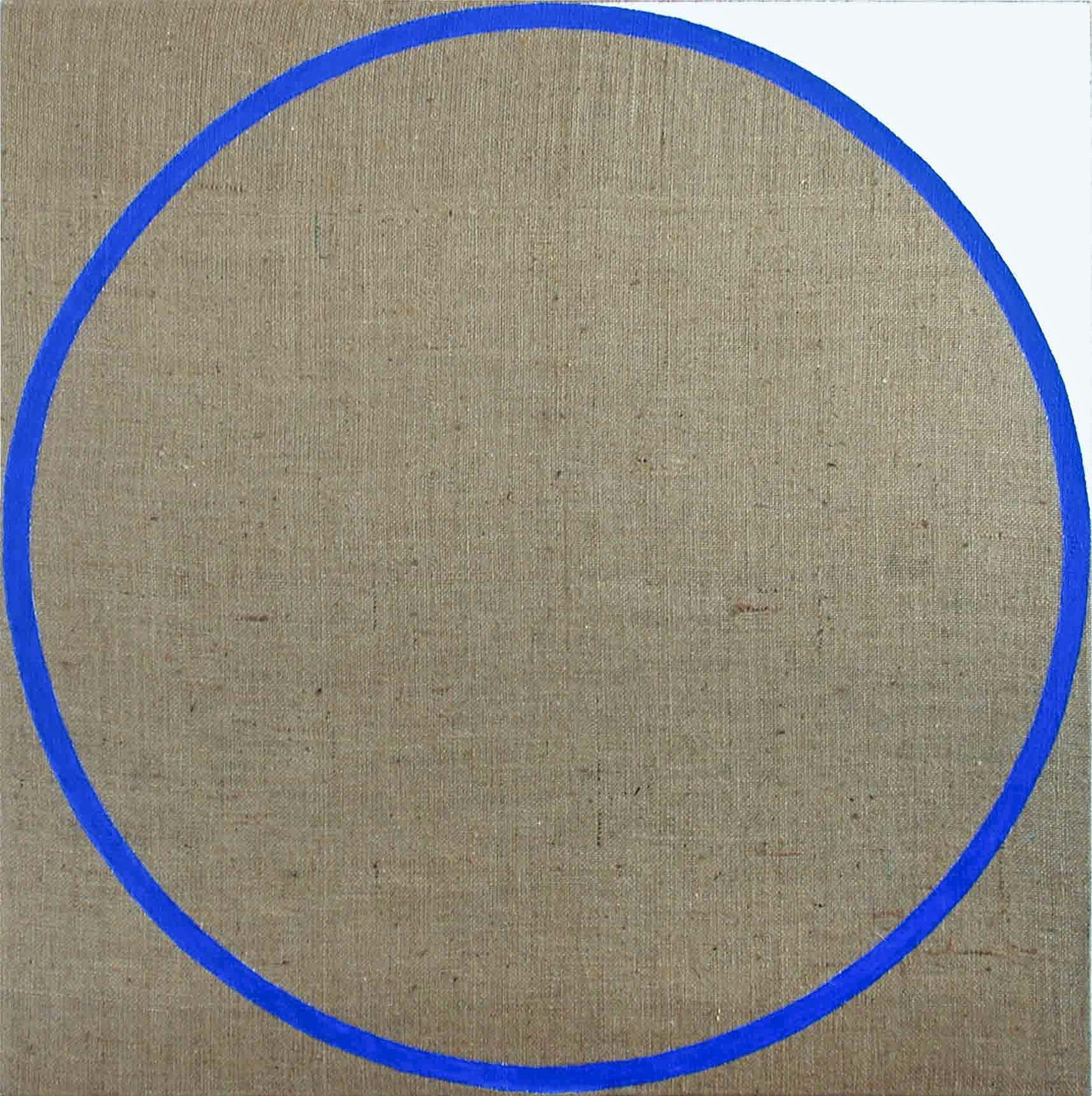 modri krog platno 100 x 100 cm