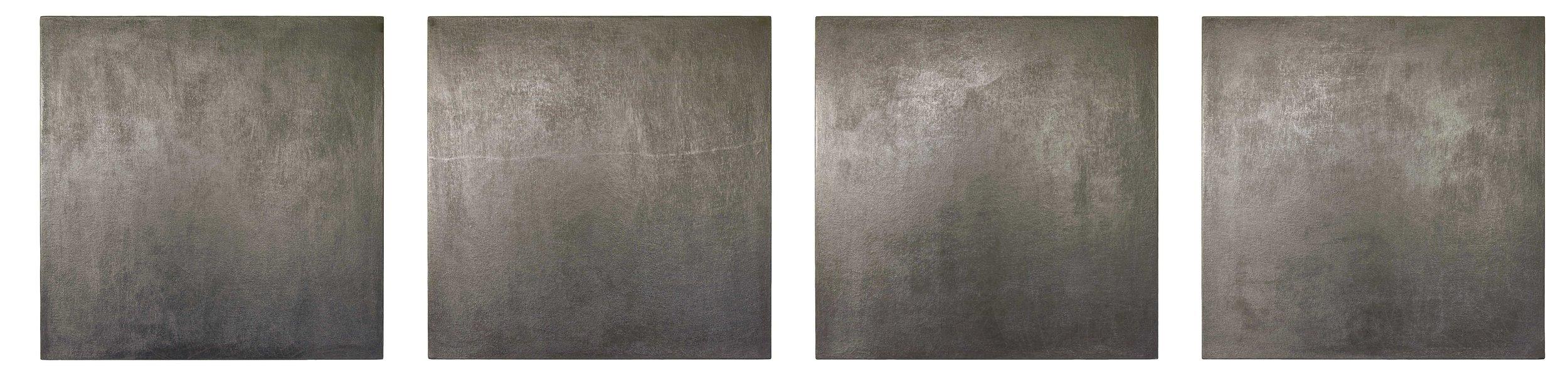 grafit, les, štirikrat 100 x 70 cm, 1998