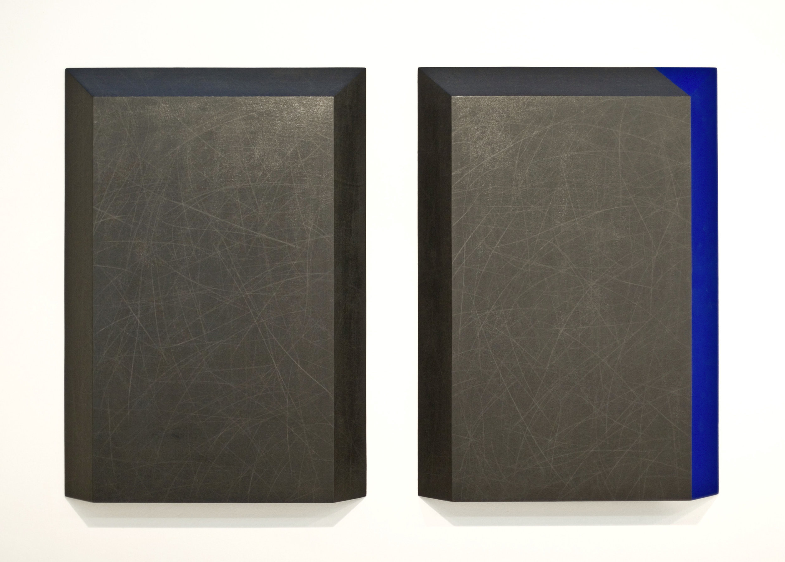 grafit, les, dvakrat 100 x 70 cm, 1998