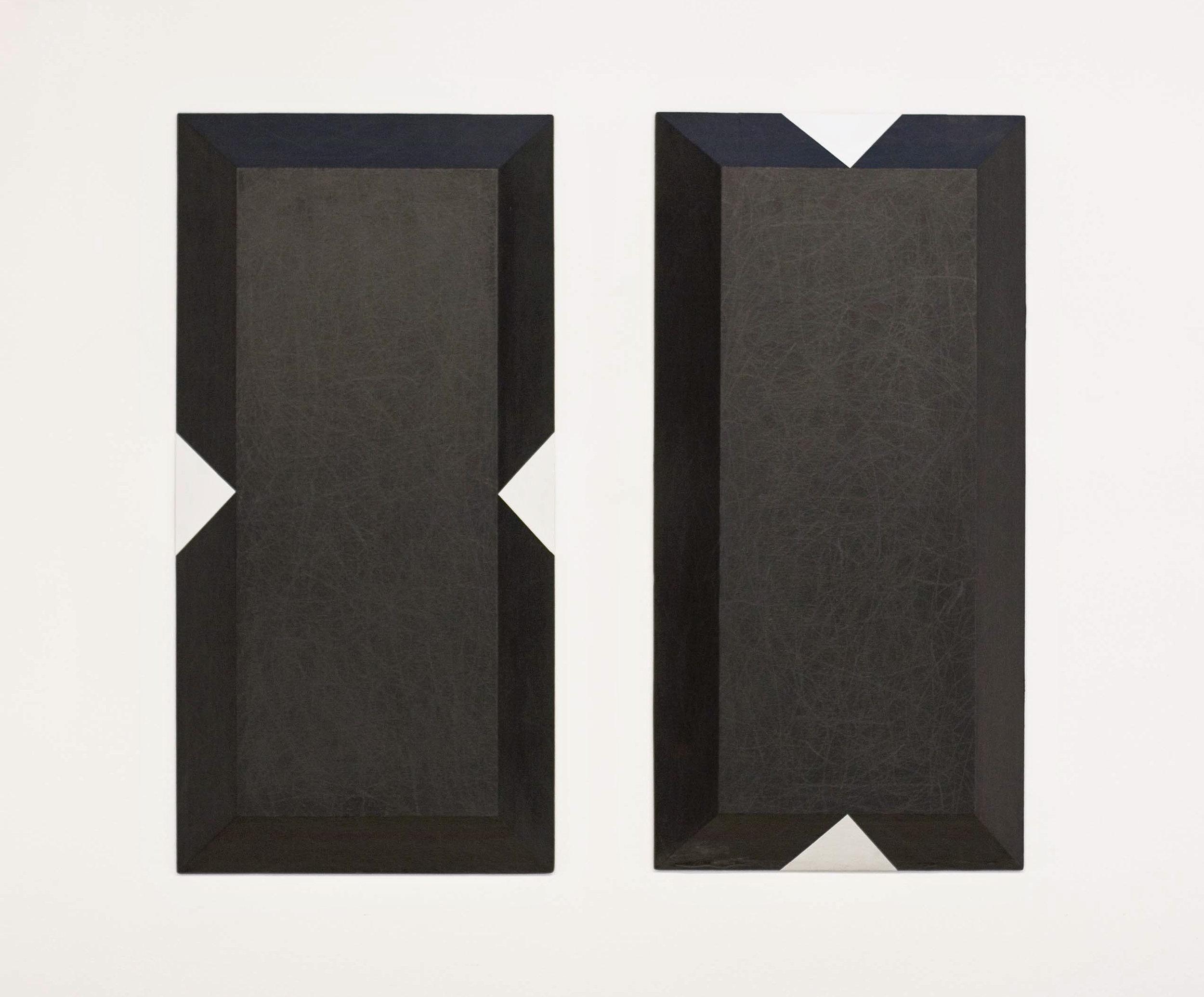 grafit, les, dvakrat 100 x 50 cm, 1998