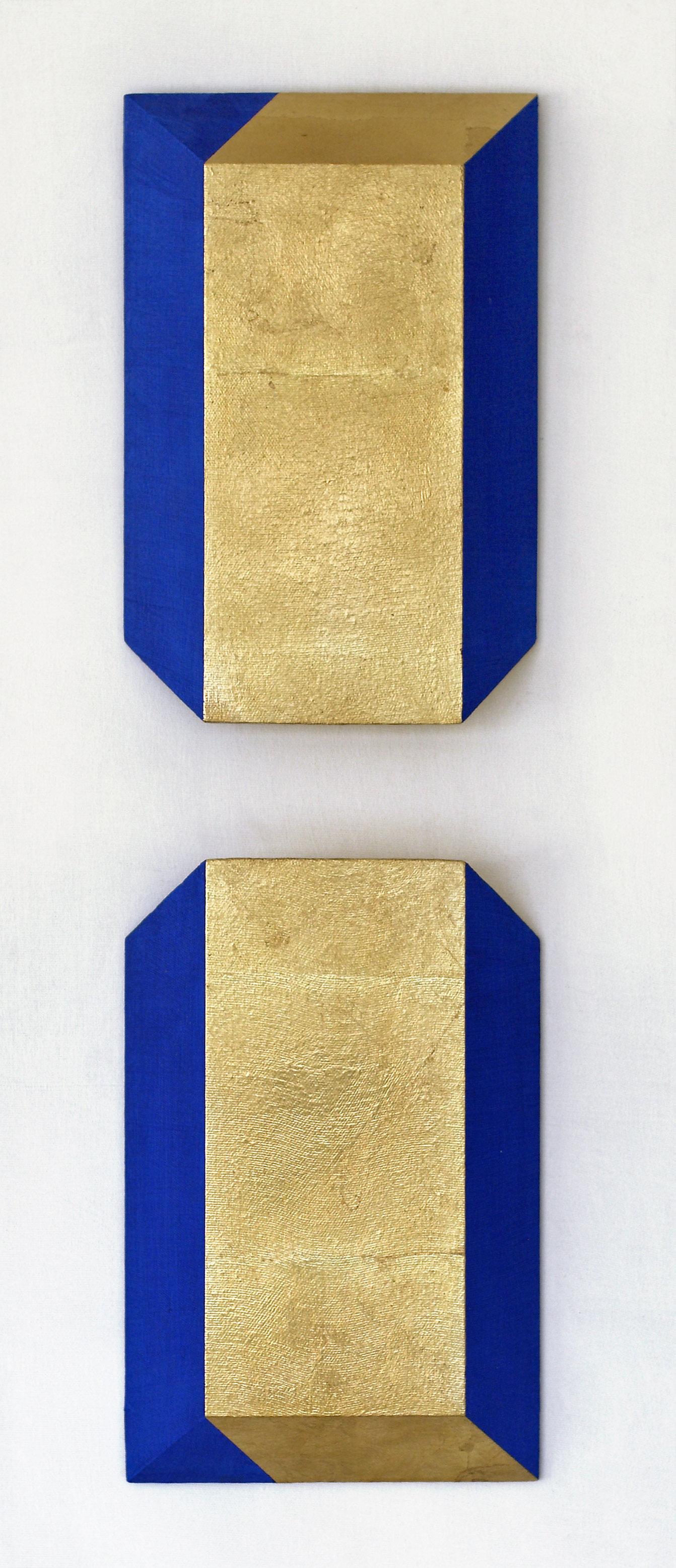 akril, medenina, les, dvakrat 40 x25 cm, 2001