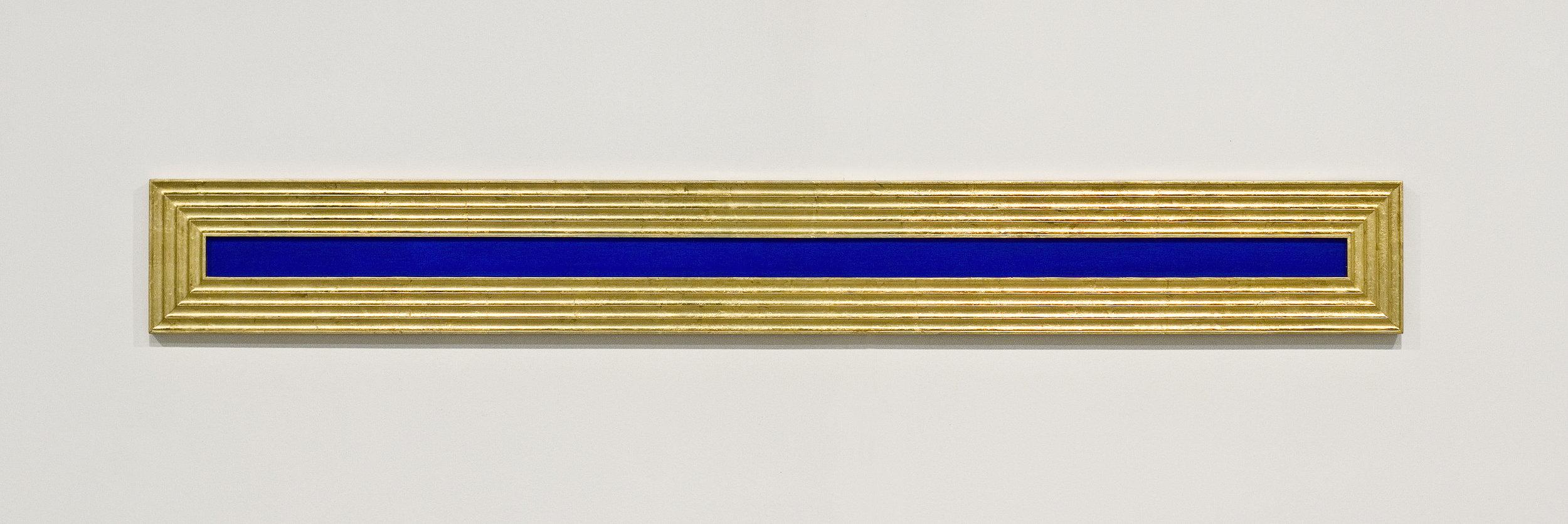 akril, medenina, les, 28 x 220 cm, 2001