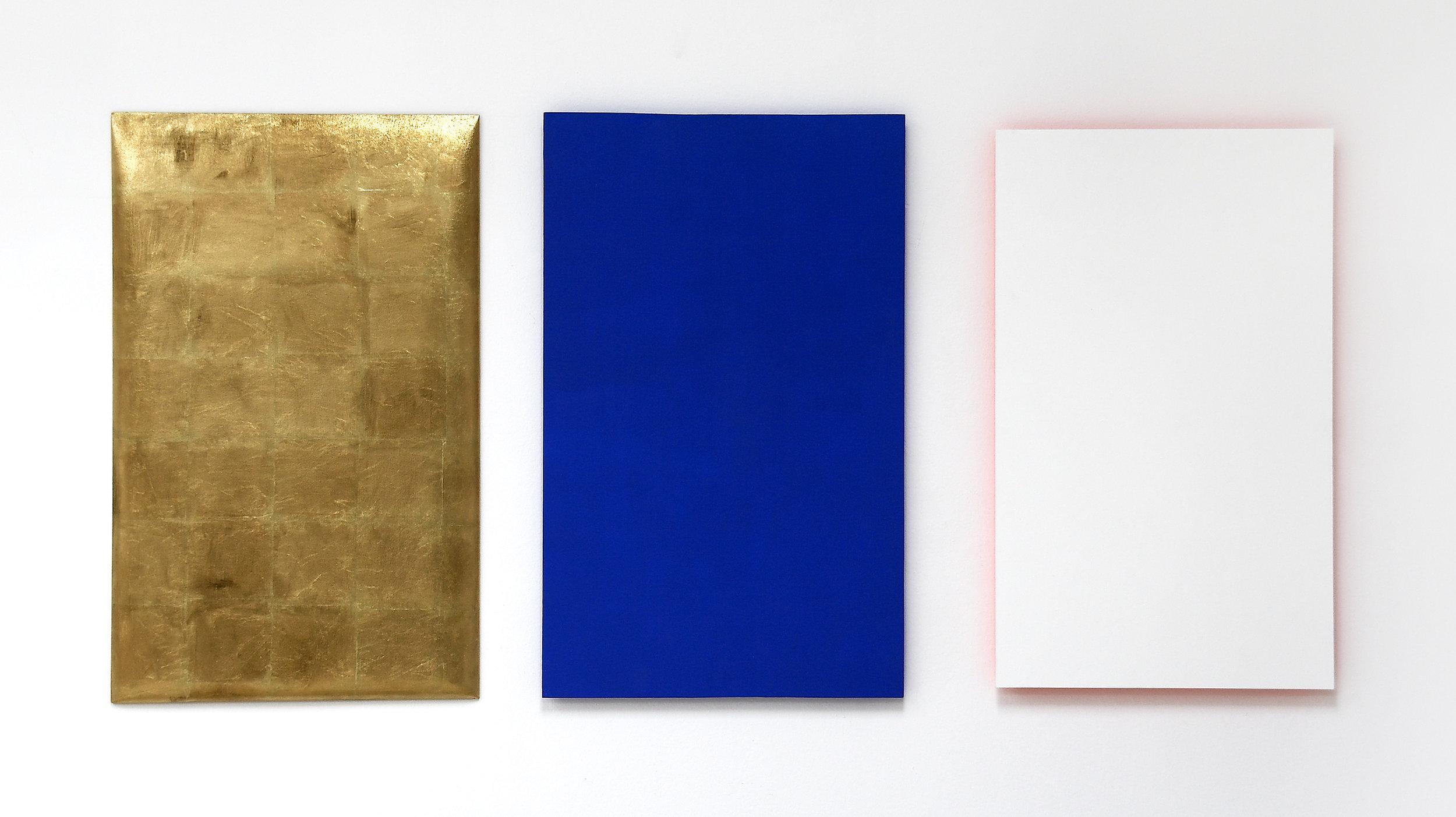 akril, medenina, les, dvakrat 110 x 70 in 105 x 65 cm, 2003