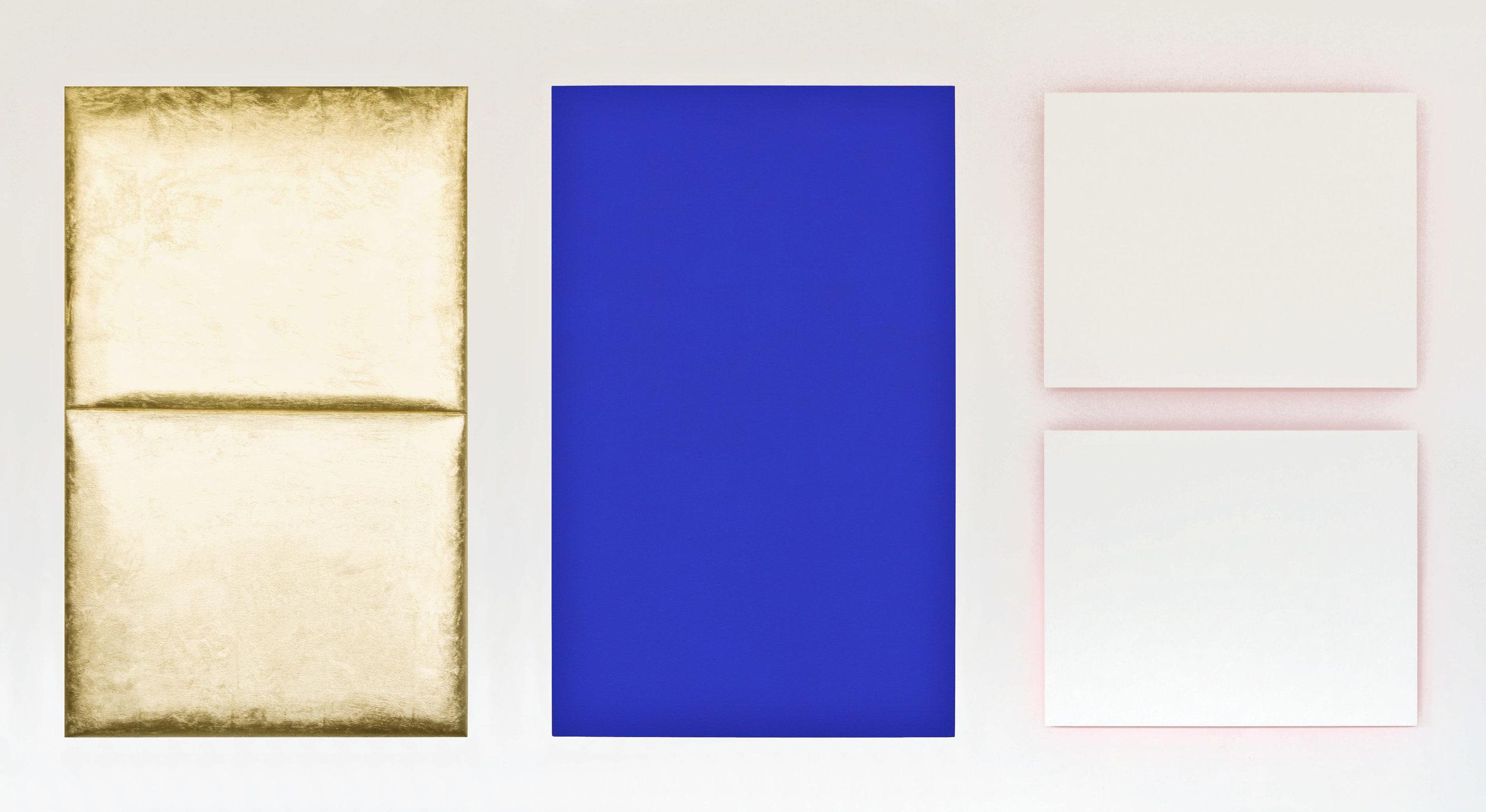 akril, medenina, les, dvakrat 110 x 70 dvakrat 50 x 65 cm, 2003