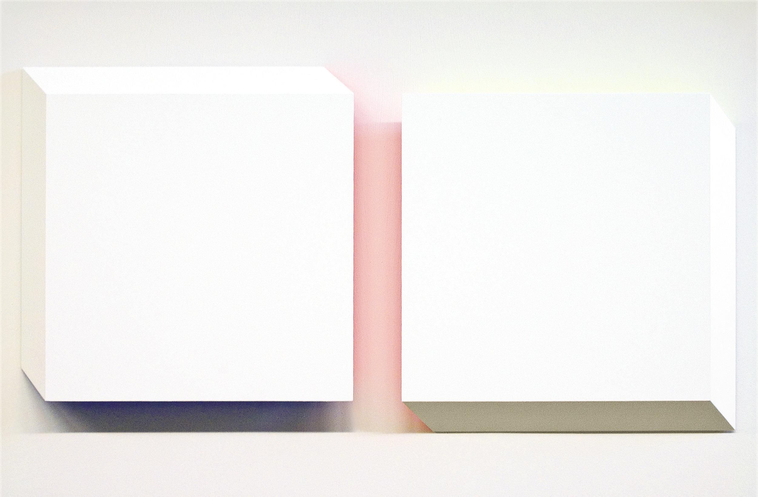 akril, les, dvakrat 60 x 60 cm, 2006