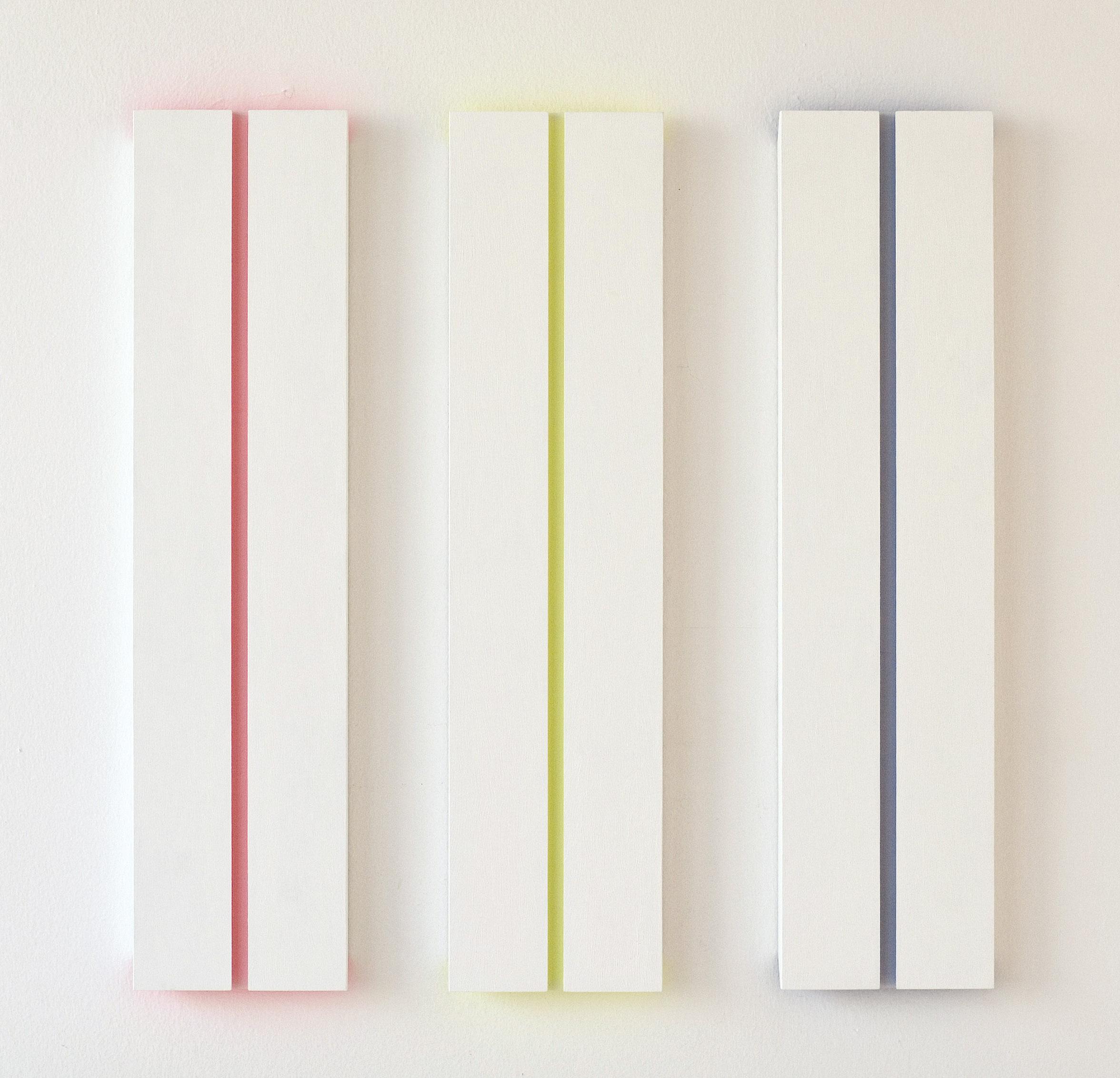 akril, les, trikrat 120 x 30 cm, 2005