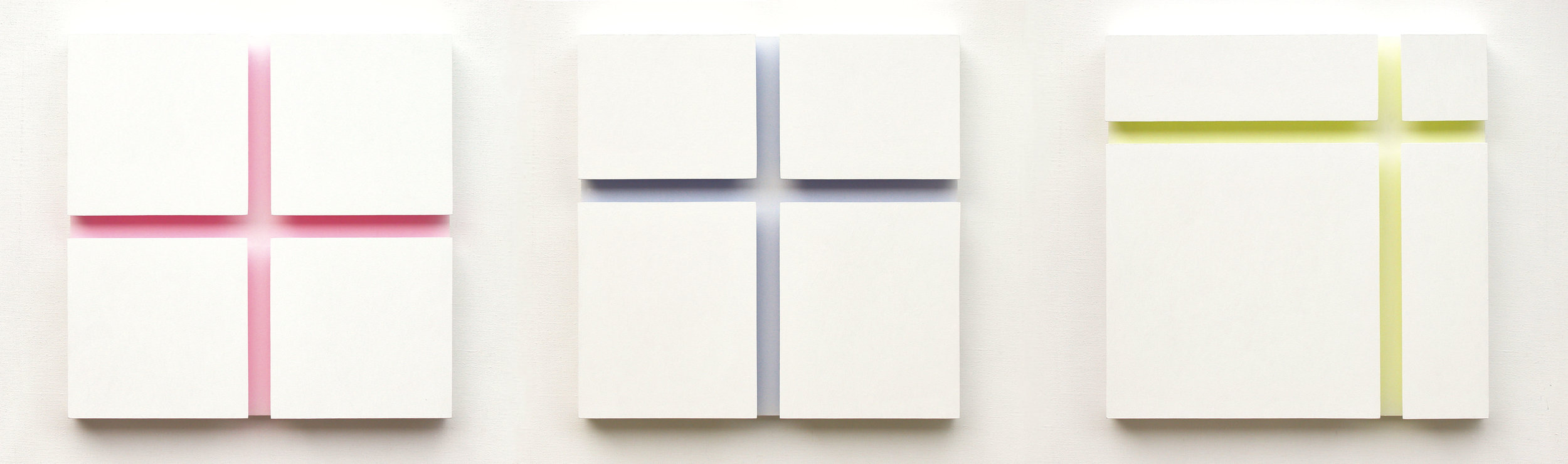 akril, les, trikrat 50 x 50 cm, 2005