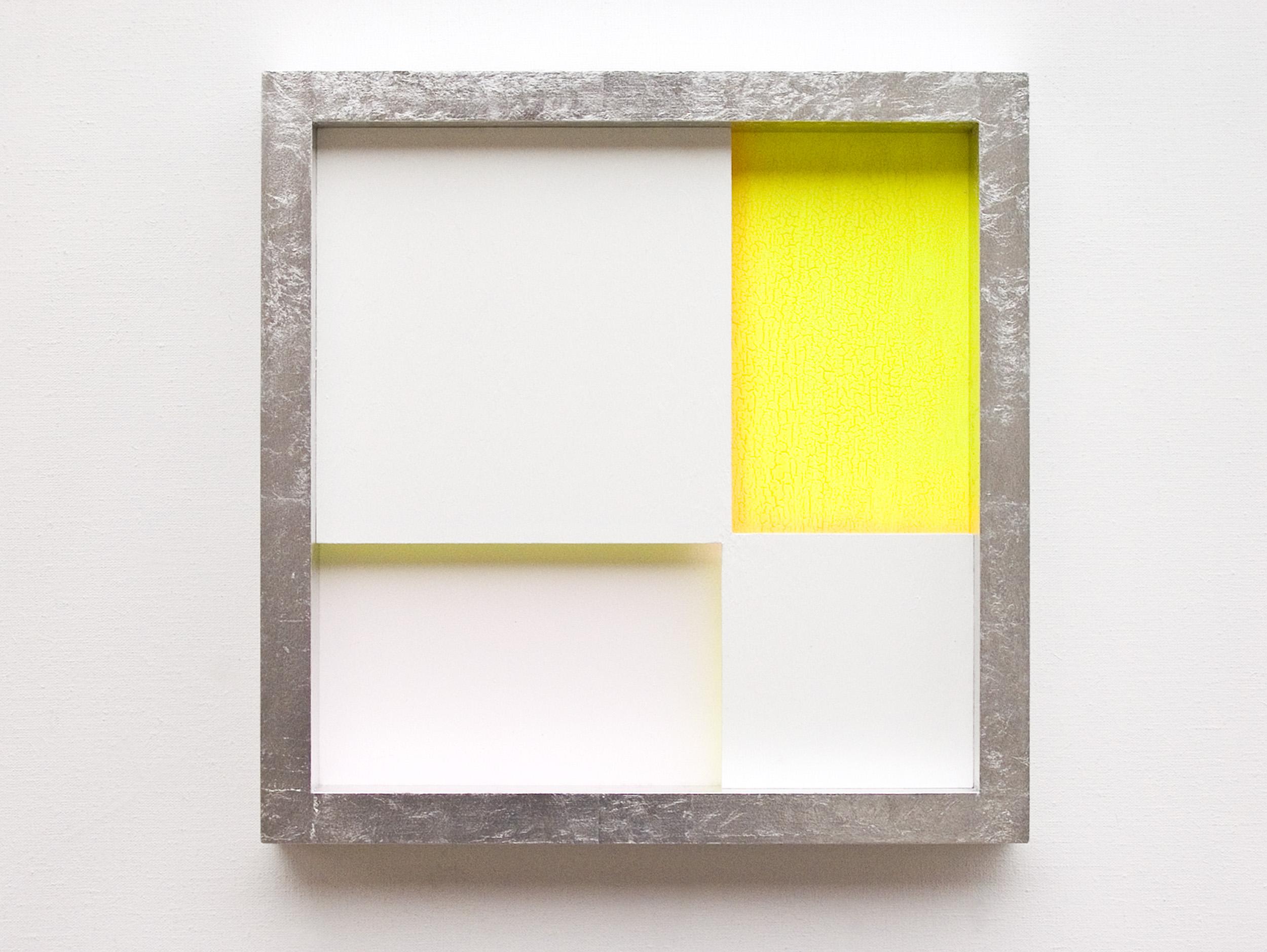 akril, les, aluminij, 42 x 42 cm, 2005