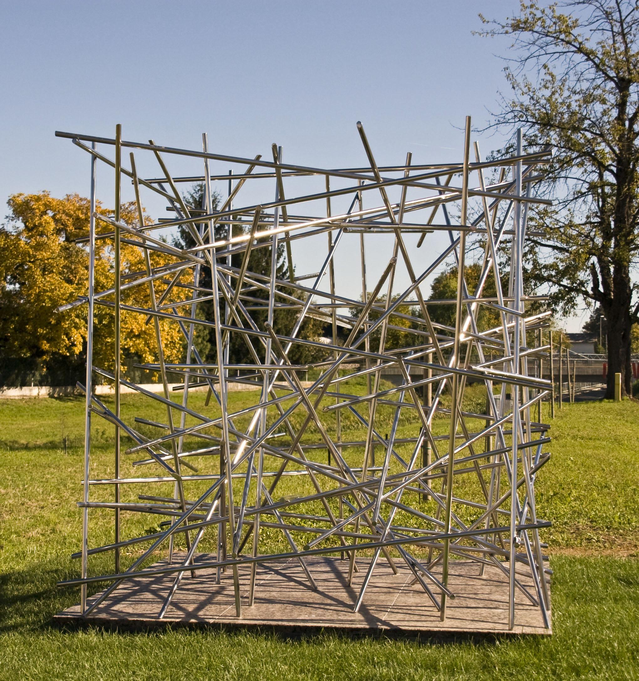 nerjaveče jeklo, 180 x 180 x 180 cm, 2012