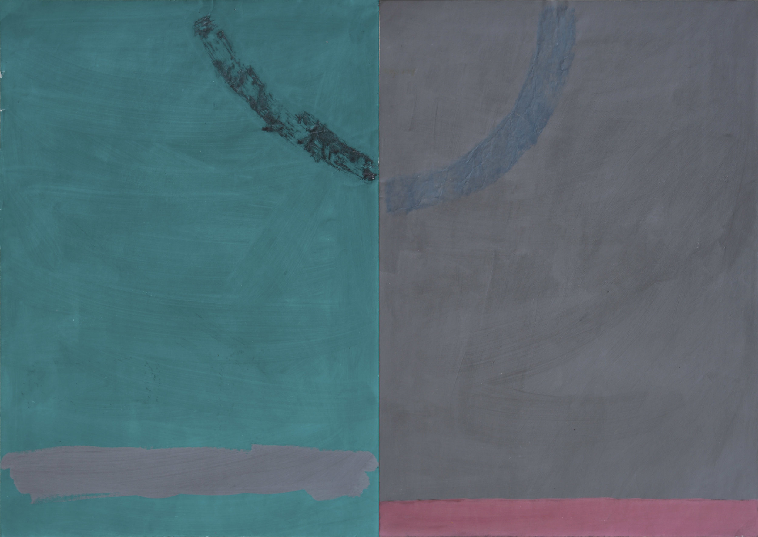 akril, papir, 70 x 100 cm, 1982