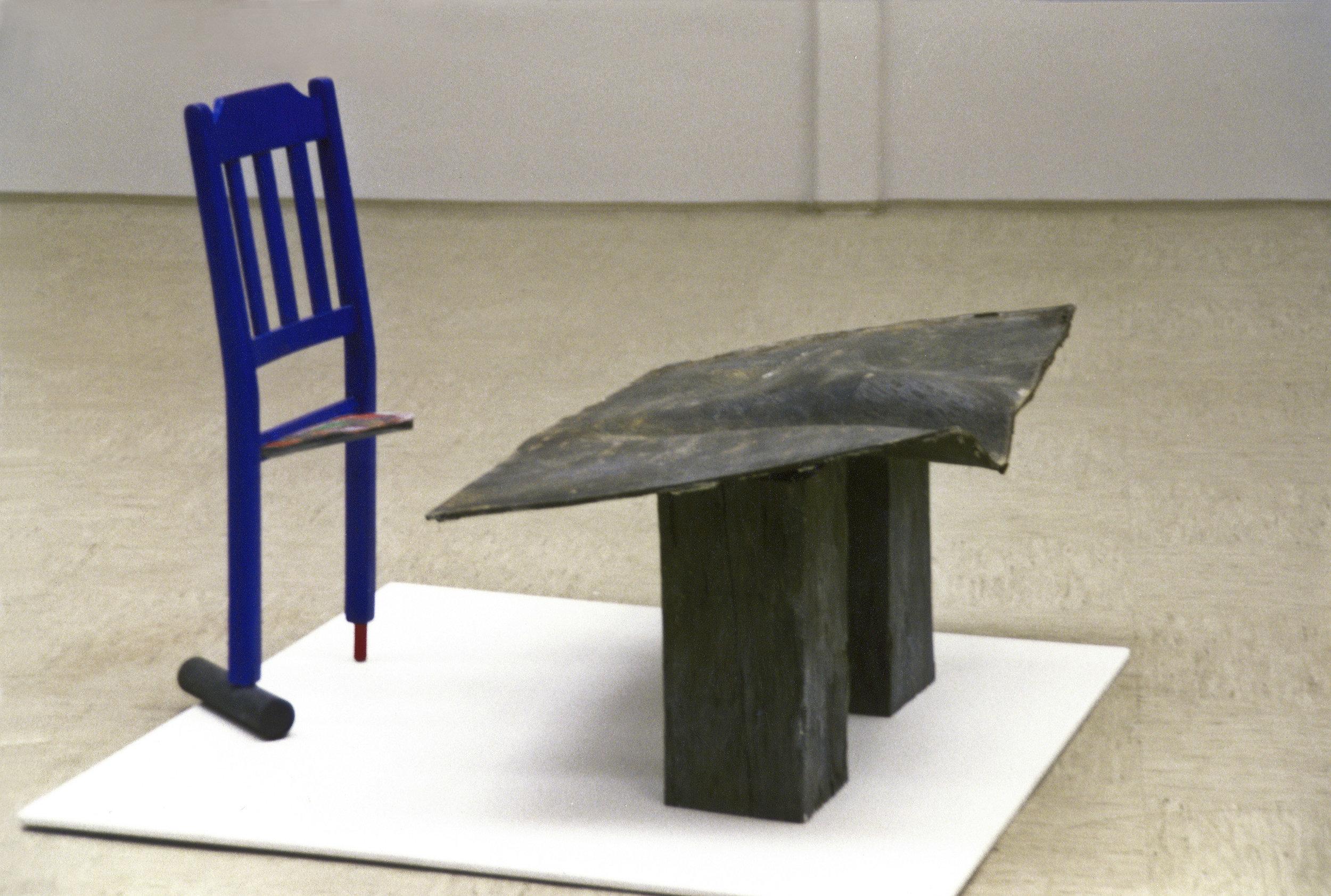 akril, les, železo,  1993
