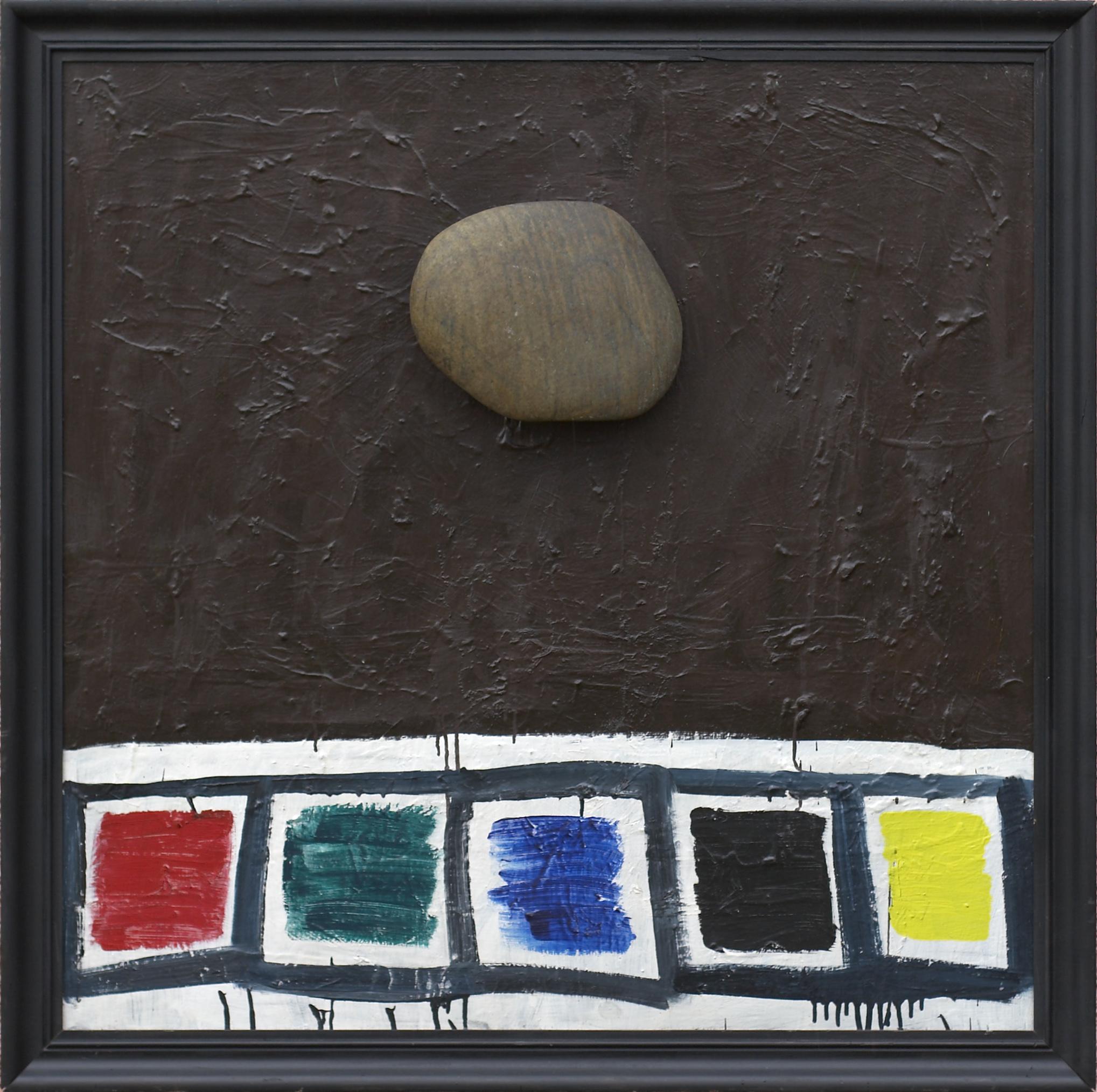 olje, les, kamen, 90 x 90 cm, 1991