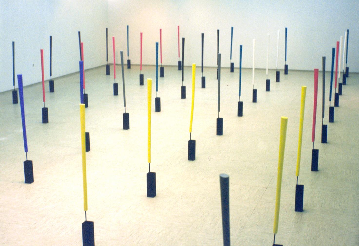 akril, les železo, 50 elementov, 1990