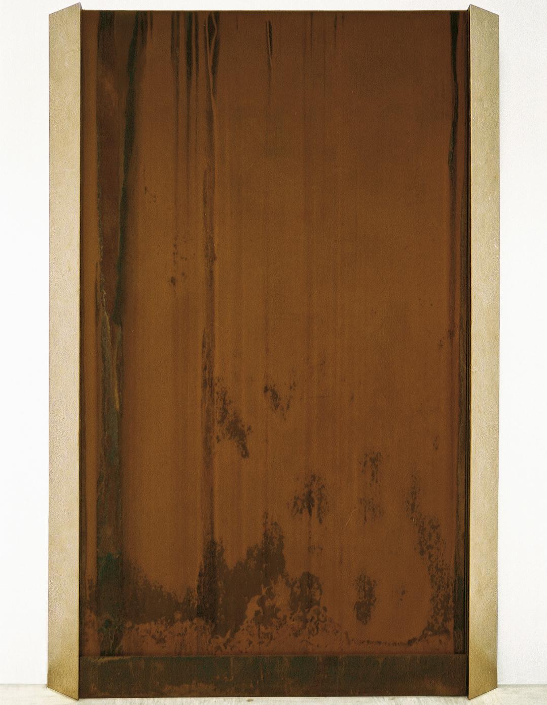 L'hommage à Štefan Smej, železo, les,  tekoča voda, 255 x 190 x 23 cm, 1998