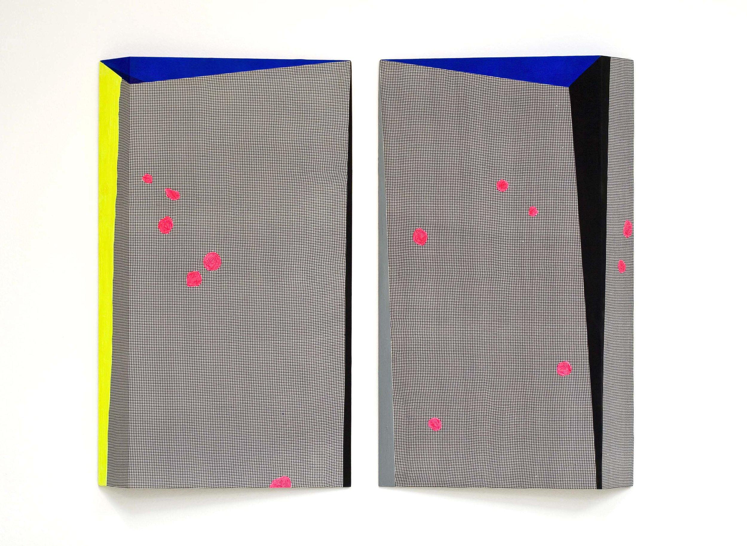 akril, les, tkanina, dvakrat 100 x 60 cm, 1999