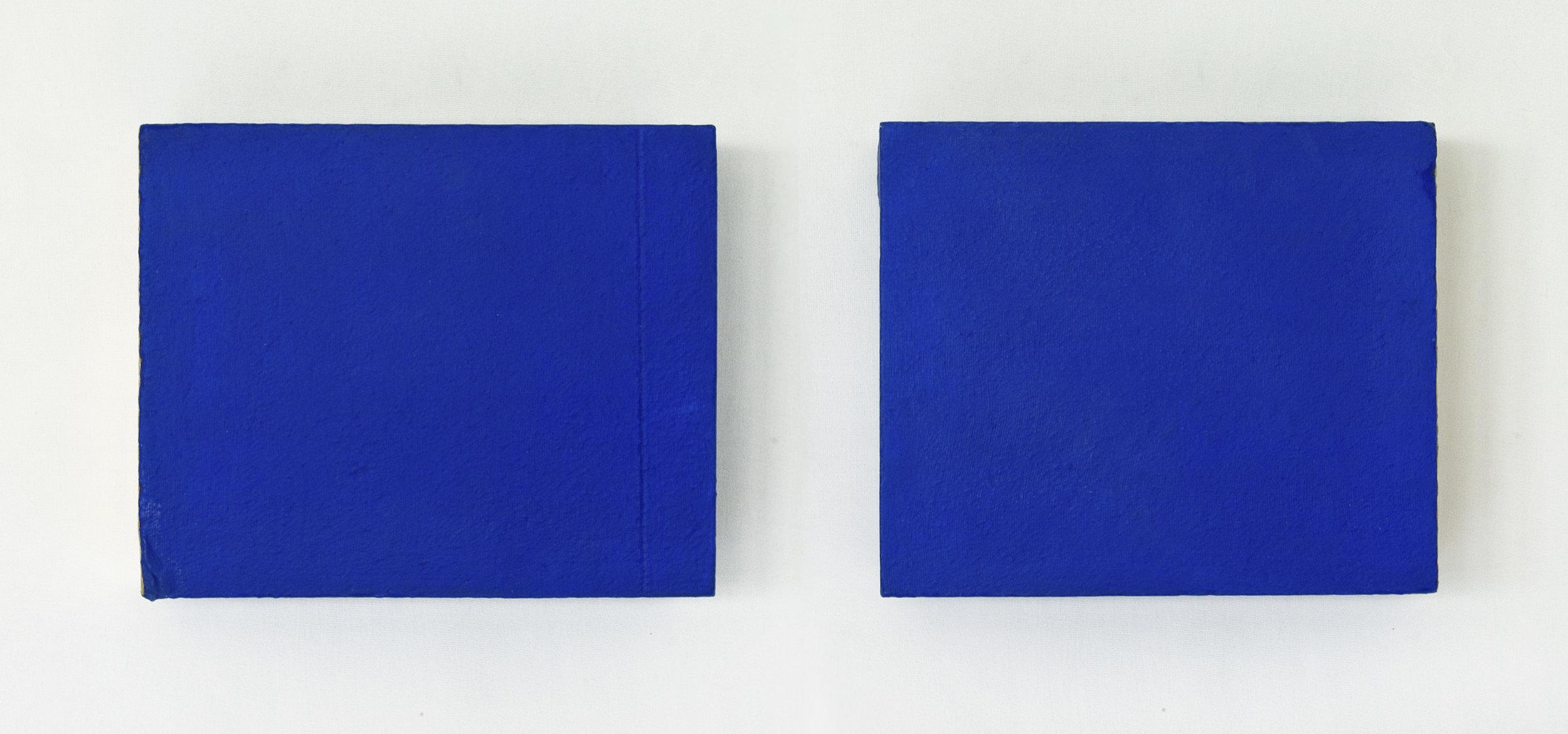 IKONA, akril, tekstil, siporeks, dvakrat 25 x 30 cm, 2000