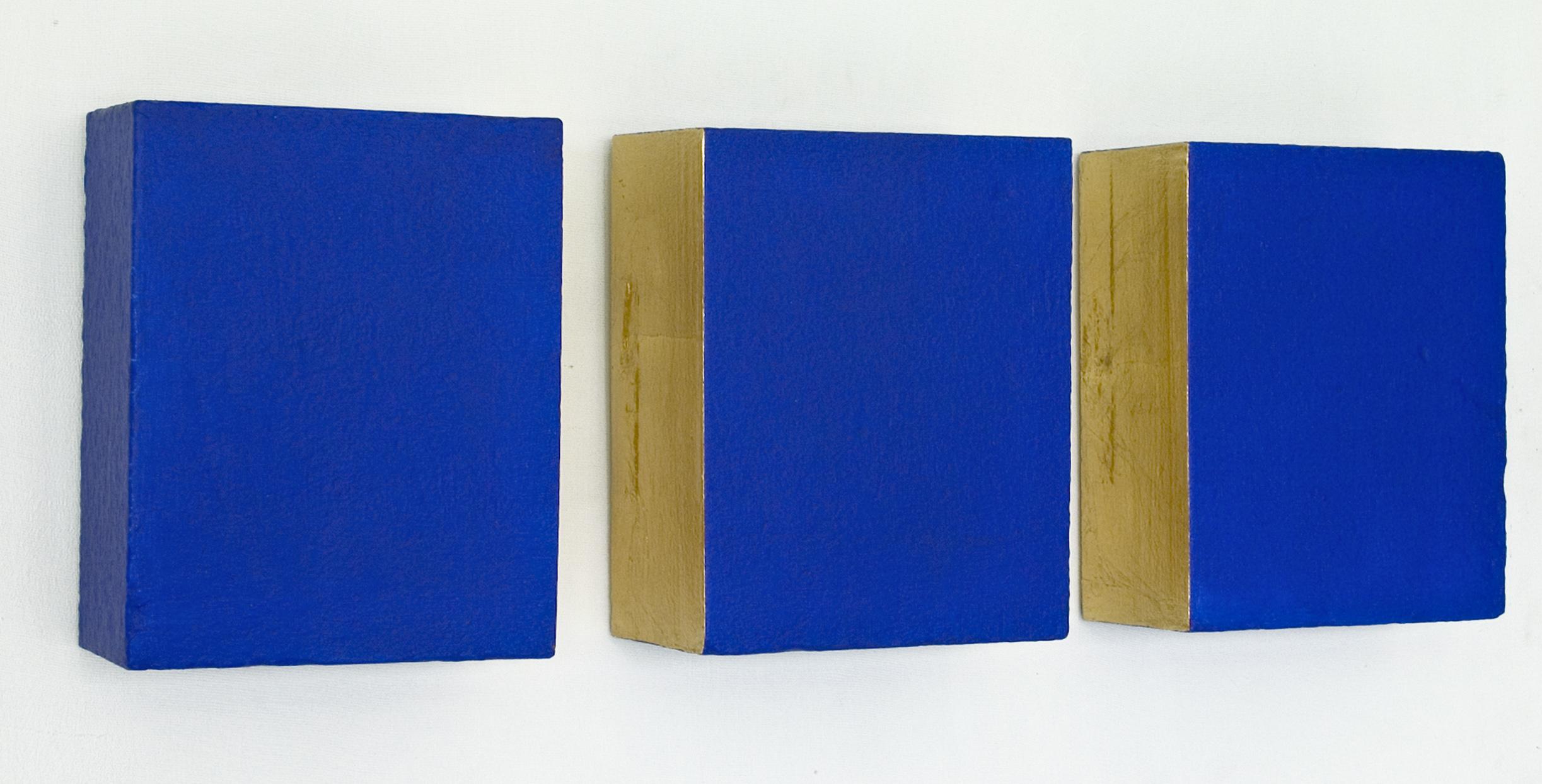 ECCE HOMO, akril, tekstil, siporeks, trikrat 25 x 20 cm, 2000