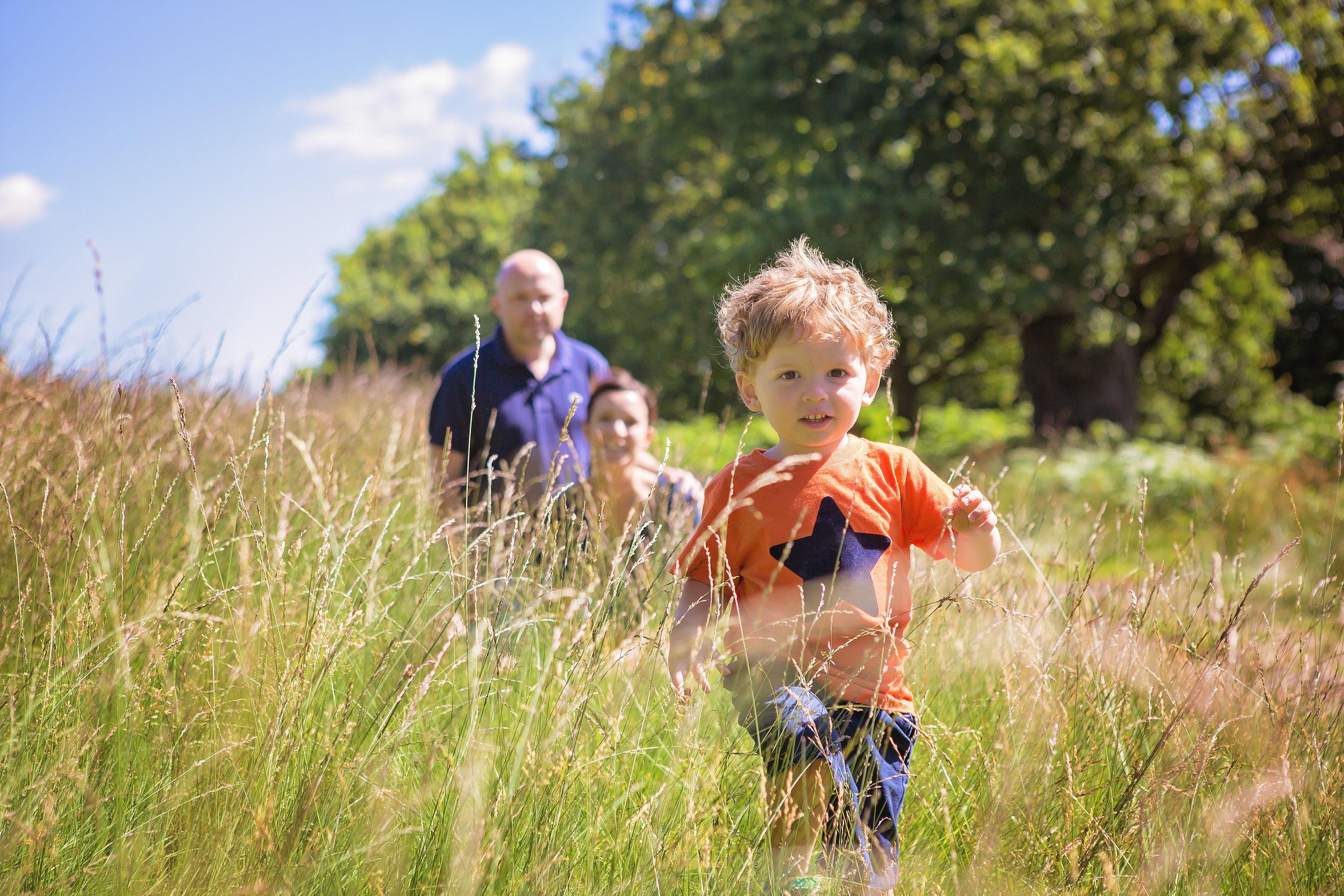 Running boy, kids photographer, Bradgate Park, Leicestershire