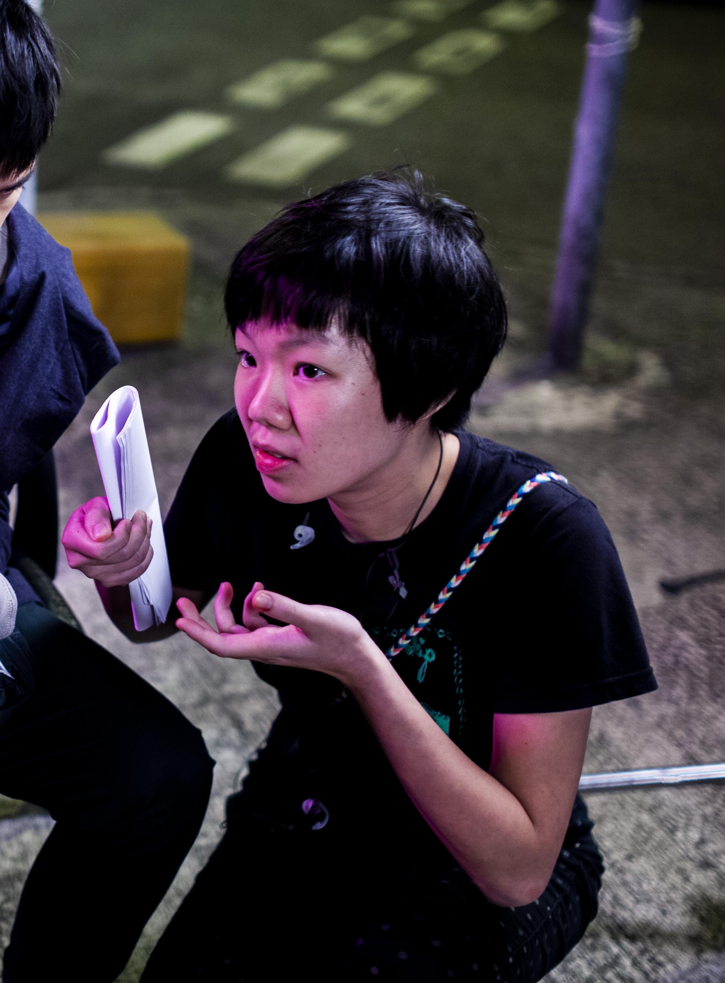 """Ka Ki Wong  - on the set of """"Dark Room"""""""