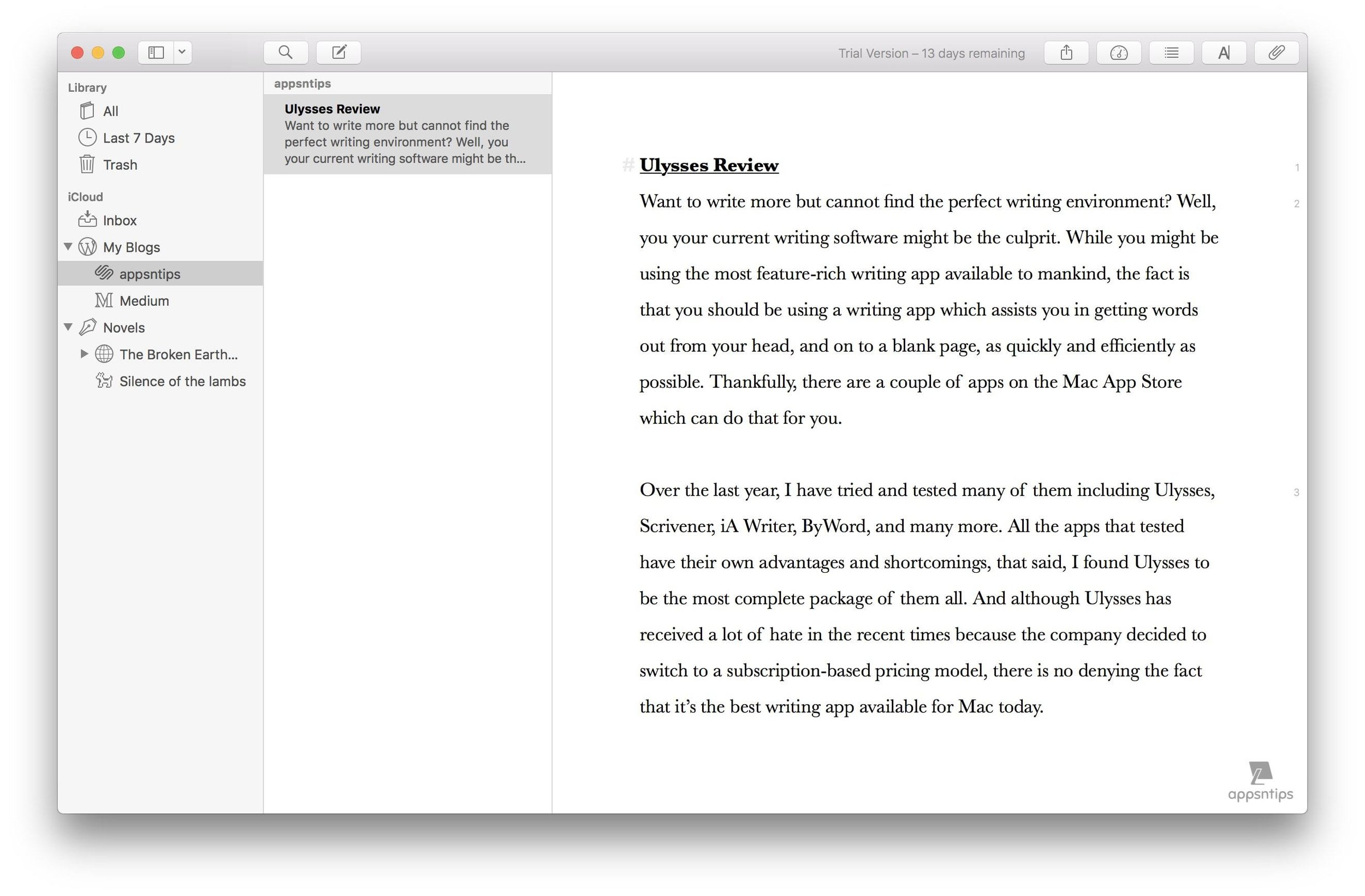 Creating and Managing Sheets in Ulysses 2.jpg