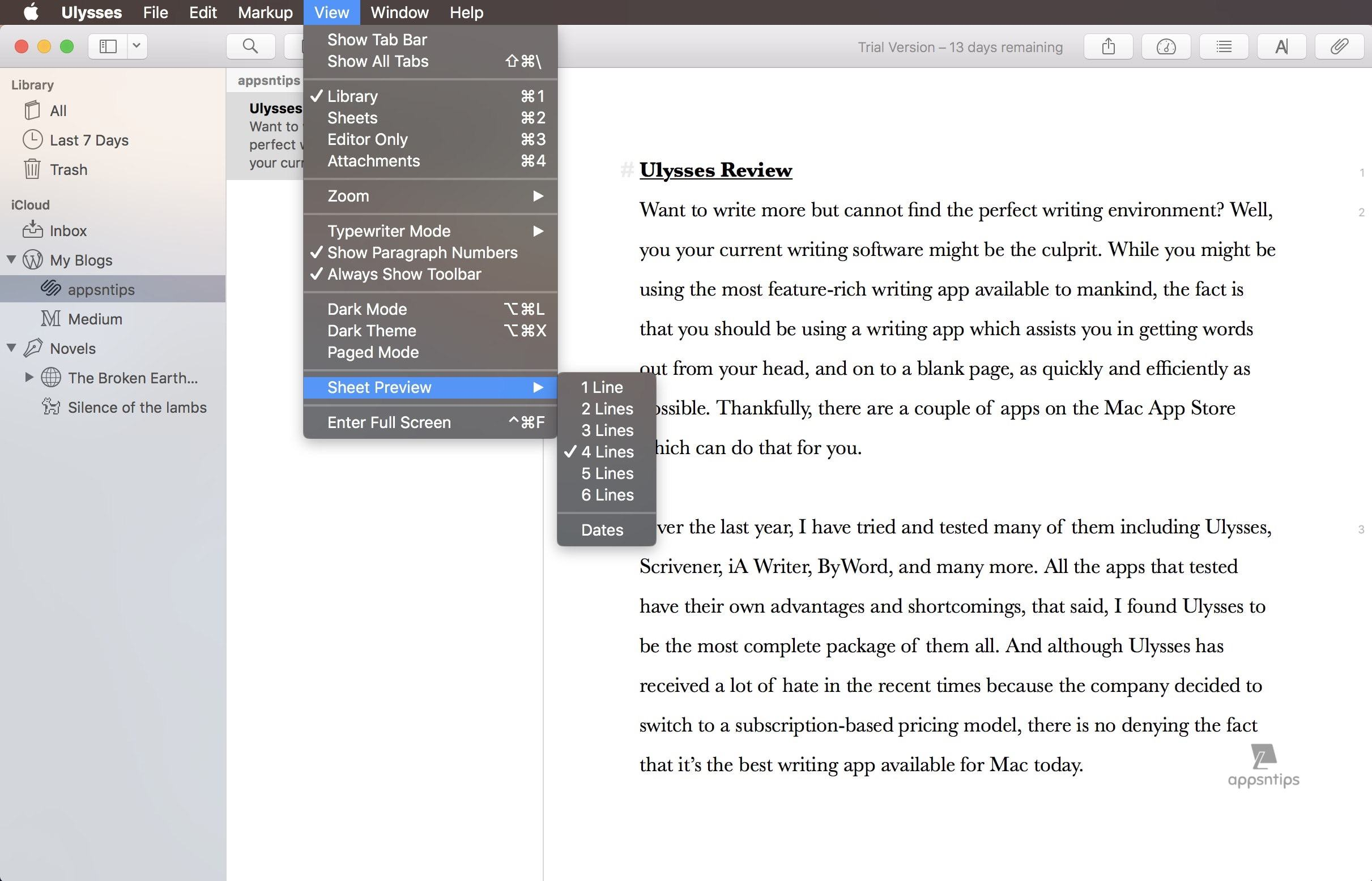 Creating and Managing Sheets in Ulysses 3.jpg