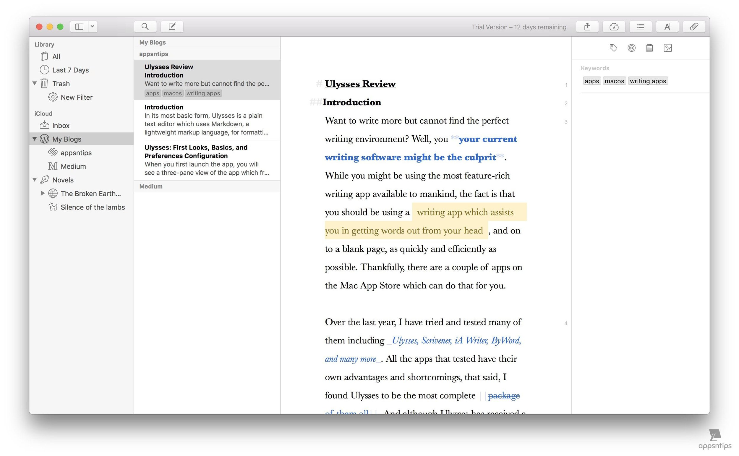 Ulysses: Keywords, Filters, and Search 1.jpg