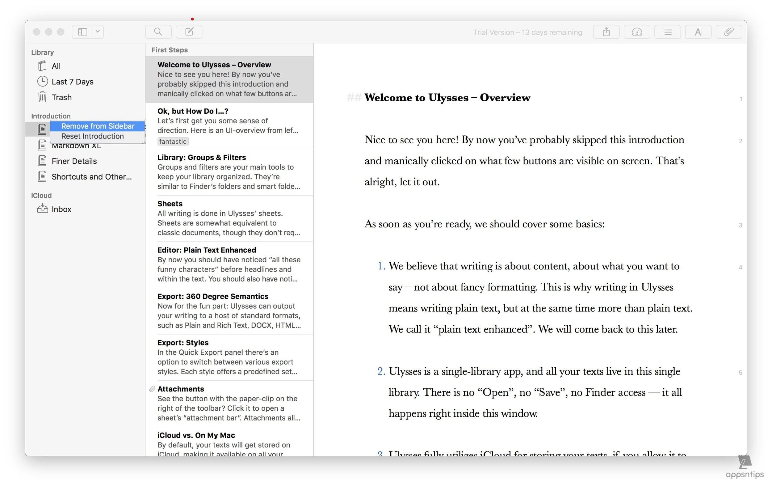 Ulysses: First Looks, Basics, and Preferences Configuration 2.jpg