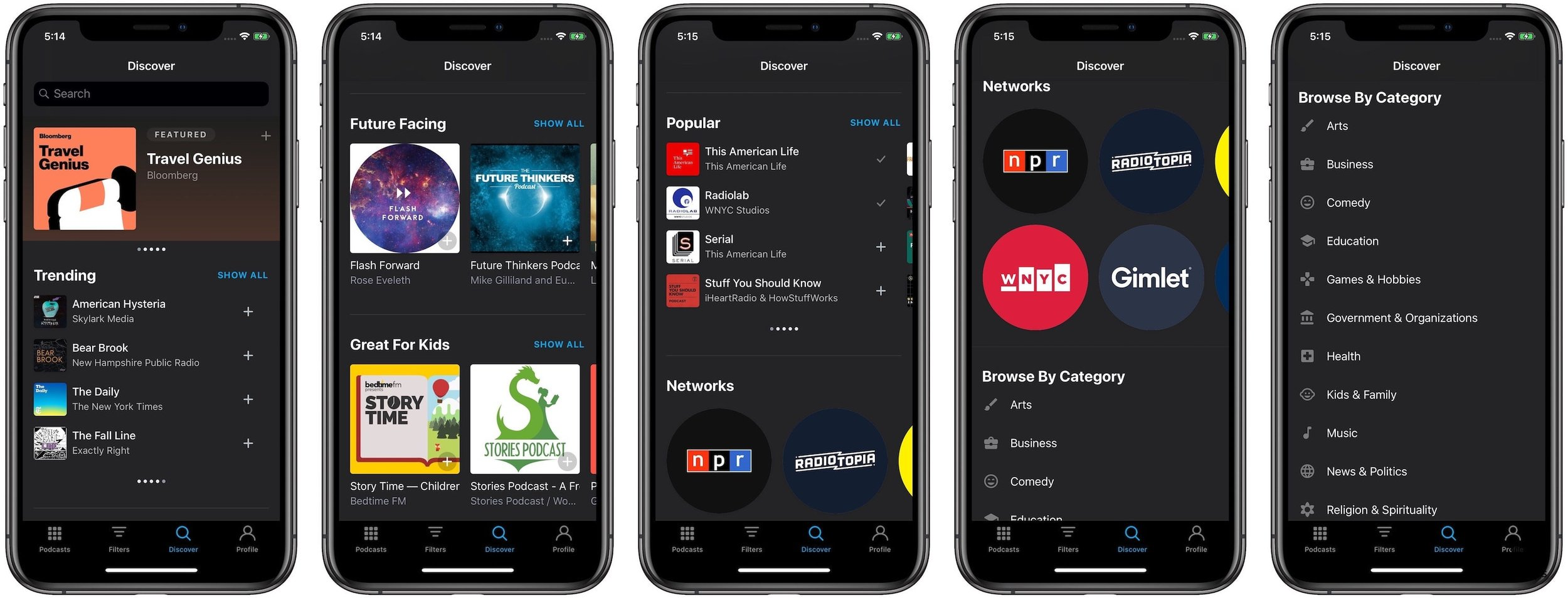 Pocket Casts Review - Discover Tab