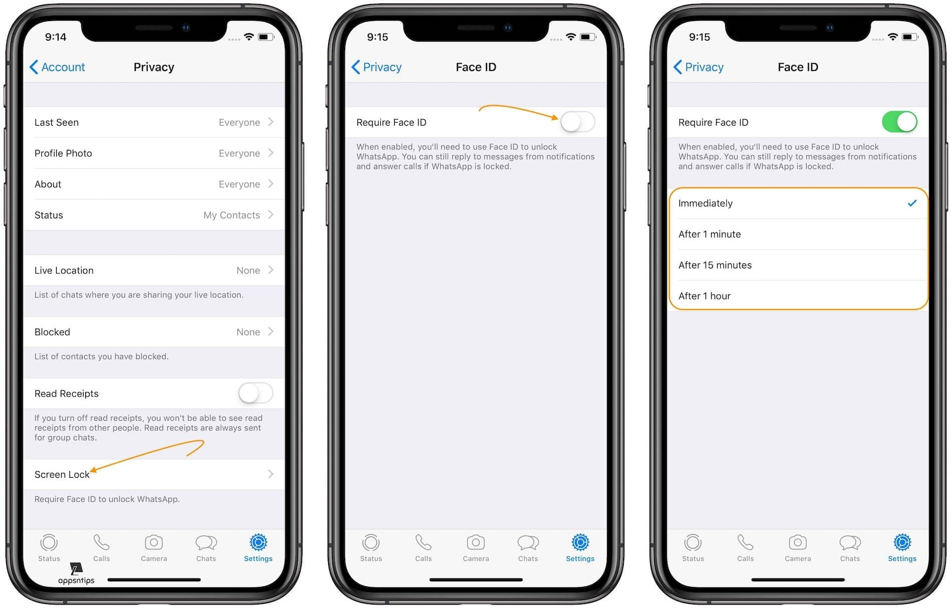 Using Face ID or Touch ID to Safeguard Your Chats on WhatsApp 1