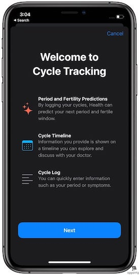 Steps to Set up Period Tracking in Apple Health in iOS 13